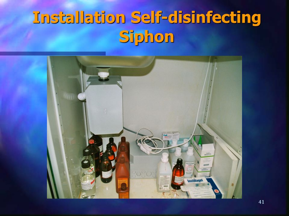 41 Installation Self-disinfecting Siphon