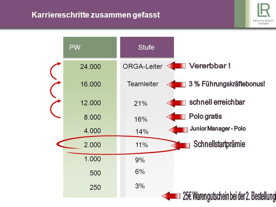 Wie setzt sich der VK-Preis zusammen ? 48,75 %LR 10,00 %Mercedes 41,25 %Bonus 100,00 Einkaufspreis 40,00 40 % HSP 140,00 Verkaufspreis