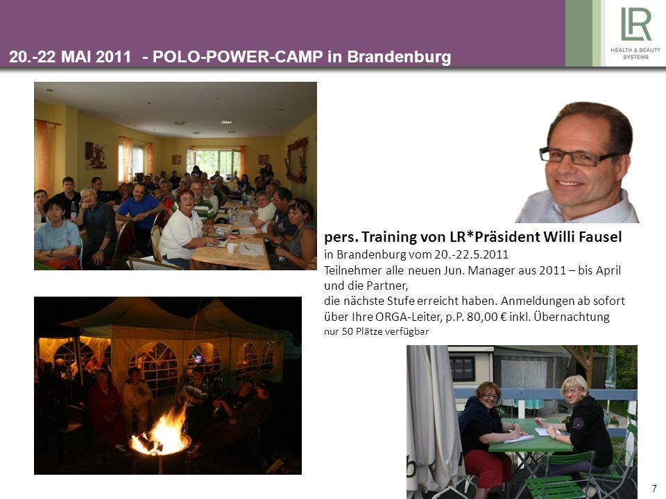 SO PLANEN SIE IHRE MISSION 2011 Monatliche Aufgaben erfüllen Partner, mit denen man Ziele erreichen will, festlegen ALLE Seminare fest einplanen mit P