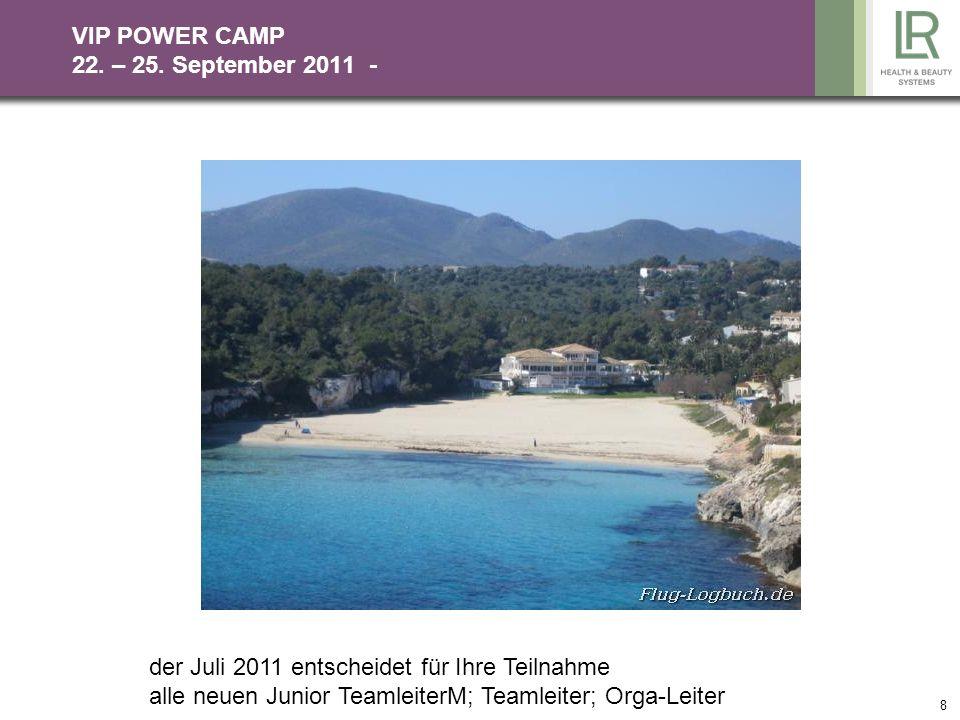 8 VIP POWER CAMP 22.– 25.