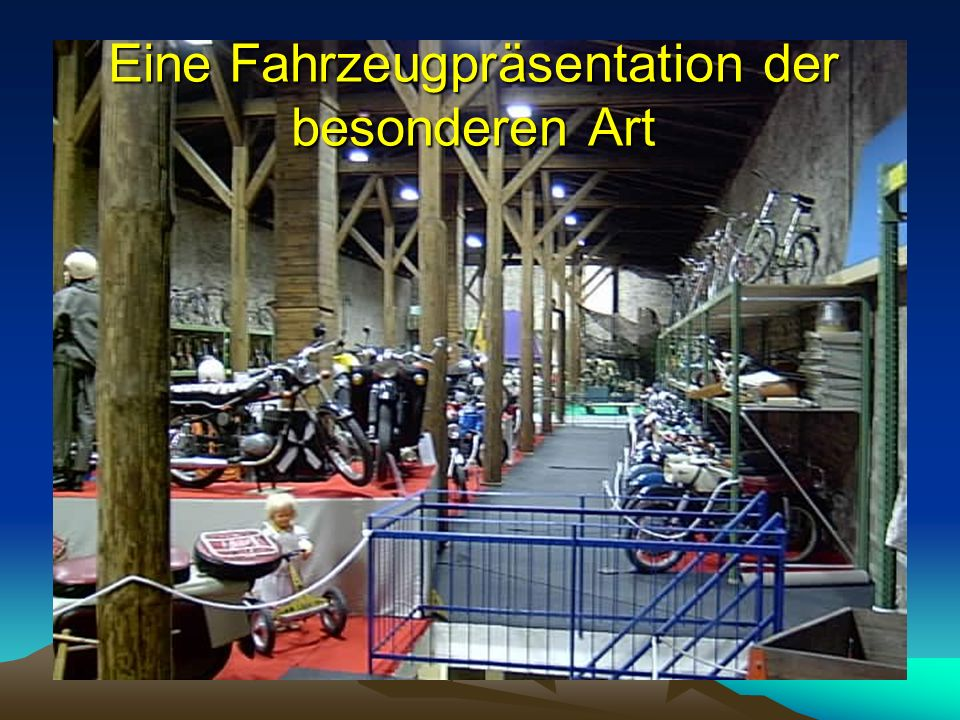 Fahrzeugmuseum Staßfurt Die besondere Erlebniswelt Die besondere Erlebniswelt in der Mitte des Salzlandkreises des Salzlandkreises Tel.: 0160 / 97442898 www.slk-museum.de
