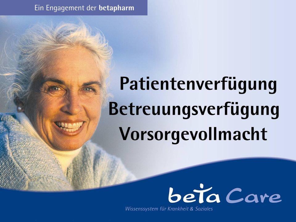 Inhalte des Vortrags Warum Patientenvorsorge.