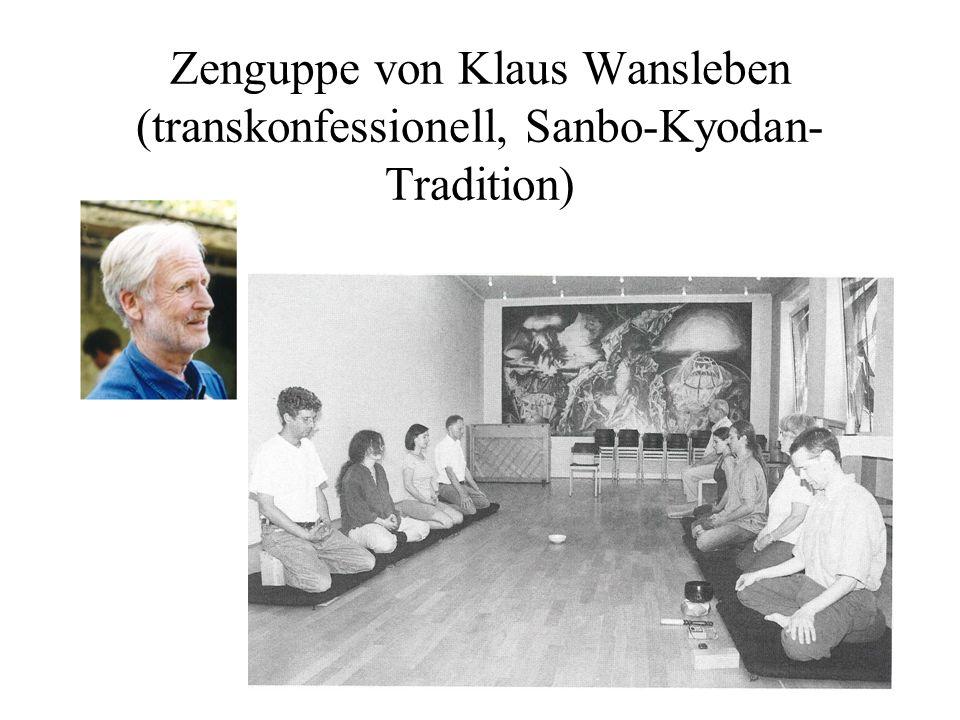 Zenguppe von Klaus Wansleben (transkonfessionell, Sanbo-Kyodan- Tradition)