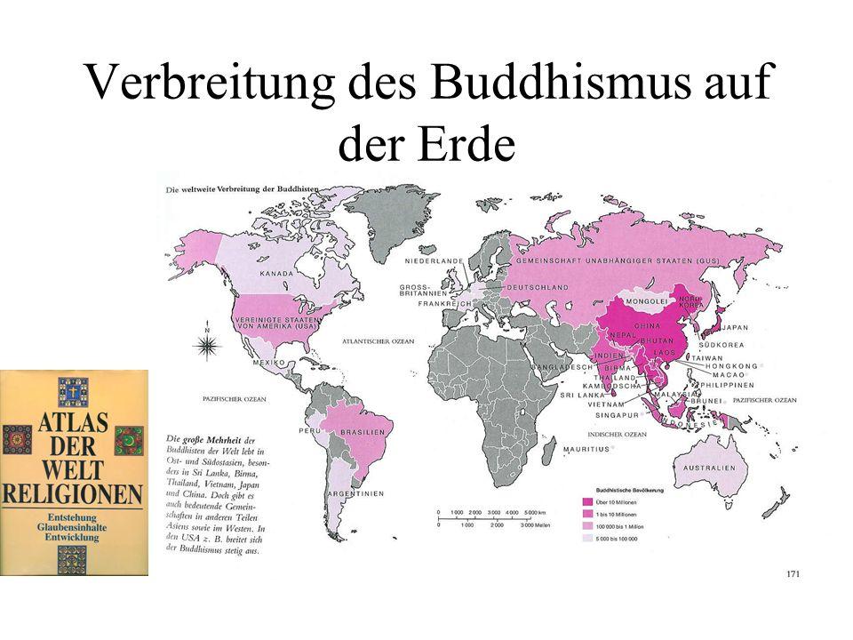 Verbreitung des Buddhismus auf der Erde