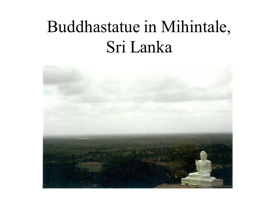 Buddhastatue in Mihintale, Sri Lanka