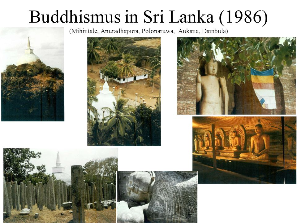 Buddhismus in Sri Lanka (1986) (Kandy, Sri Pada, Welawaya, Unawatuna)