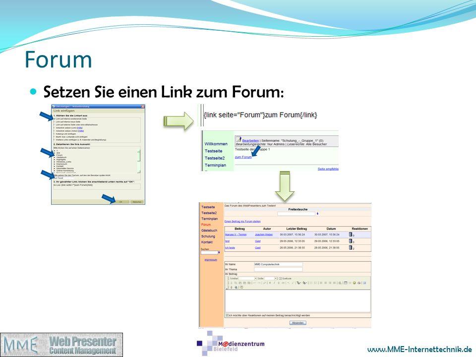 www.MME-Internettechnik.de Forum Setzen Sie einen Link zum Forum: