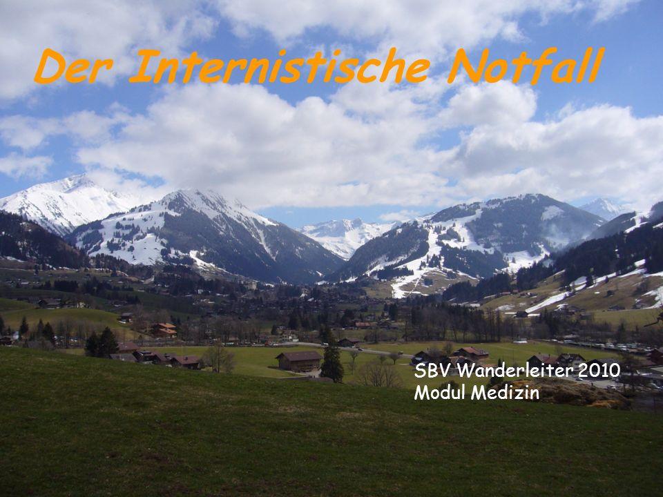 SBV Wanderleiter 2010 Modul Medizin Der Internistische Notfall