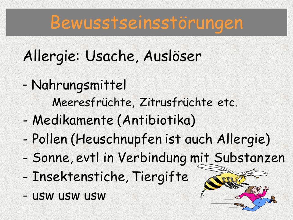 Allergie: Usache, Auslöser - Nahrungsmittel Meeresfrüchte, Zitrusfrüchte etc.