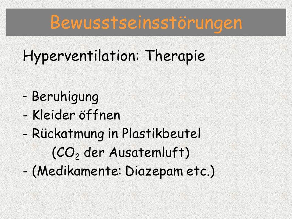 Epilepsie: Symptome - Initialschrei, Zungenbiss - Hinfallen (Fallsucht) - Tonisch-klonische Bewegungen - Schlaffer Zustand (Absenz) - Urin- und Stuhlabgang - Schäumen-vor-dem-Mund - Blauverfärbung der Haut - Postiktale Müdigkeit / Muskelkater Bewusstseinsstörungen