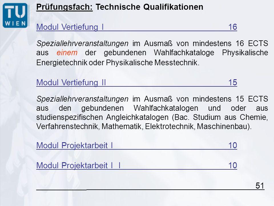 Prüfungsfach: Zusatzqualifikationen (Soft Skills) und Freie Wahlfächer Modul Zusatzqualifikationen12 Lehrveranstaltungen aus dem Wahlfachkatalog von studien- richtungsspezifischen Zusatzqualifikationen und/oder dem zentralen Wahlfachkatalog der TU Wien für Zusatzqualifi- kationen mind.7.5 ECTS Frei wählbare Lehrveranstaltungen in- und ausländischer Uni- versitäten bis zu4.5 ECTS _______________________________________________12