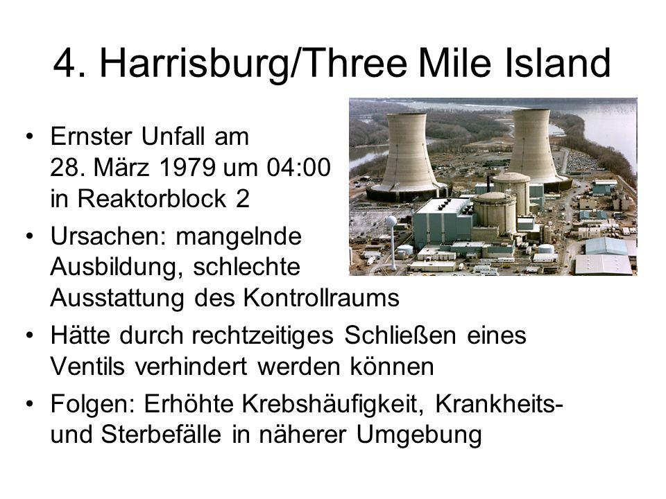 4.Harrisburg/Three Mile Island Ernster Unfall am 28.