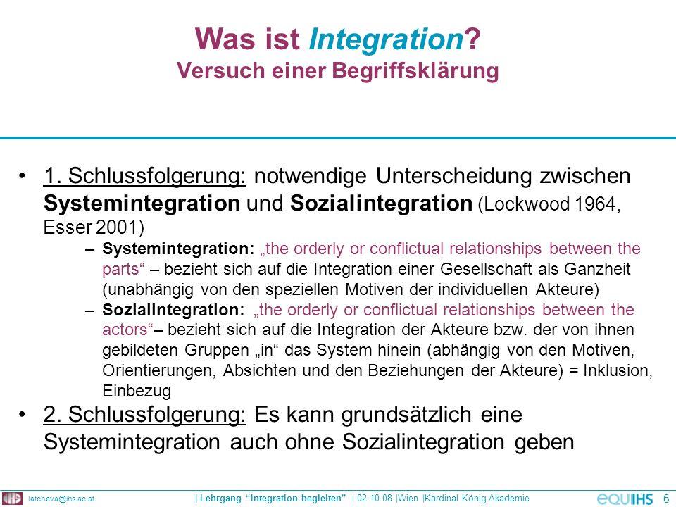 Der Integrationsbegriff bei Hartmut Esser Esser, H. 2001, S.16
