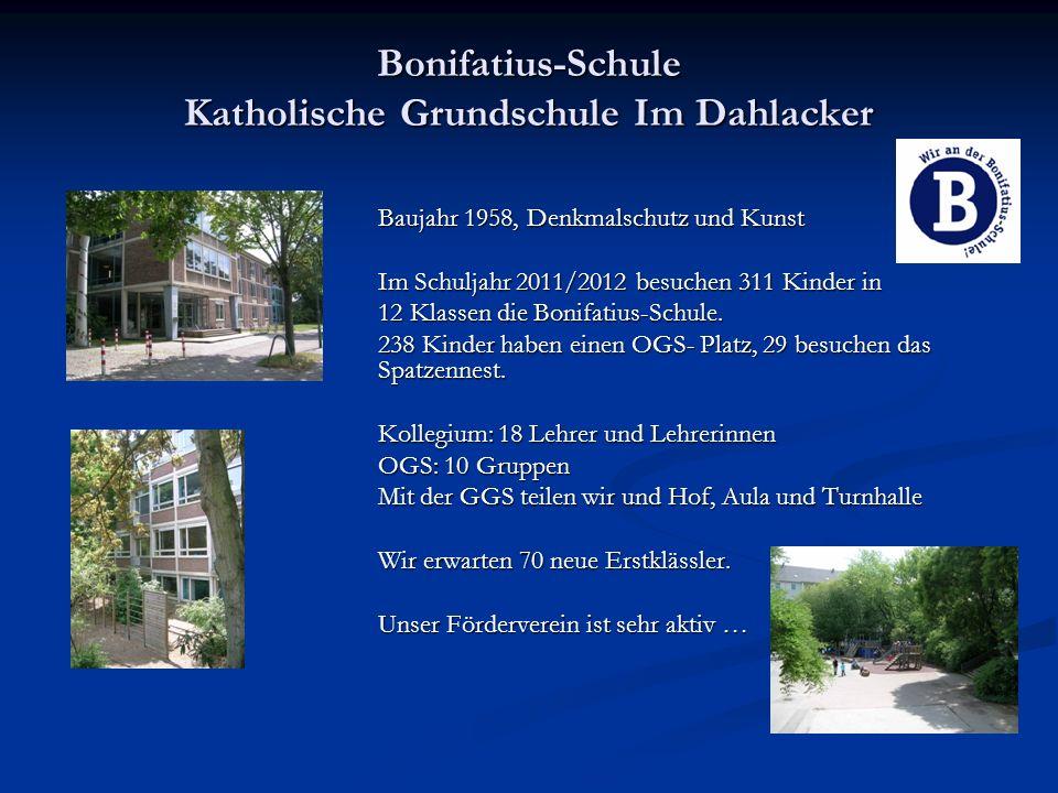 Bonifatius-Schule Katholische Grundschule Im Dahlacker Baujahr 1958, Denkmalschutz und Kunst Baujahr 1958, Denkmalschutz und Kunst Im Schuljahr 2011/2