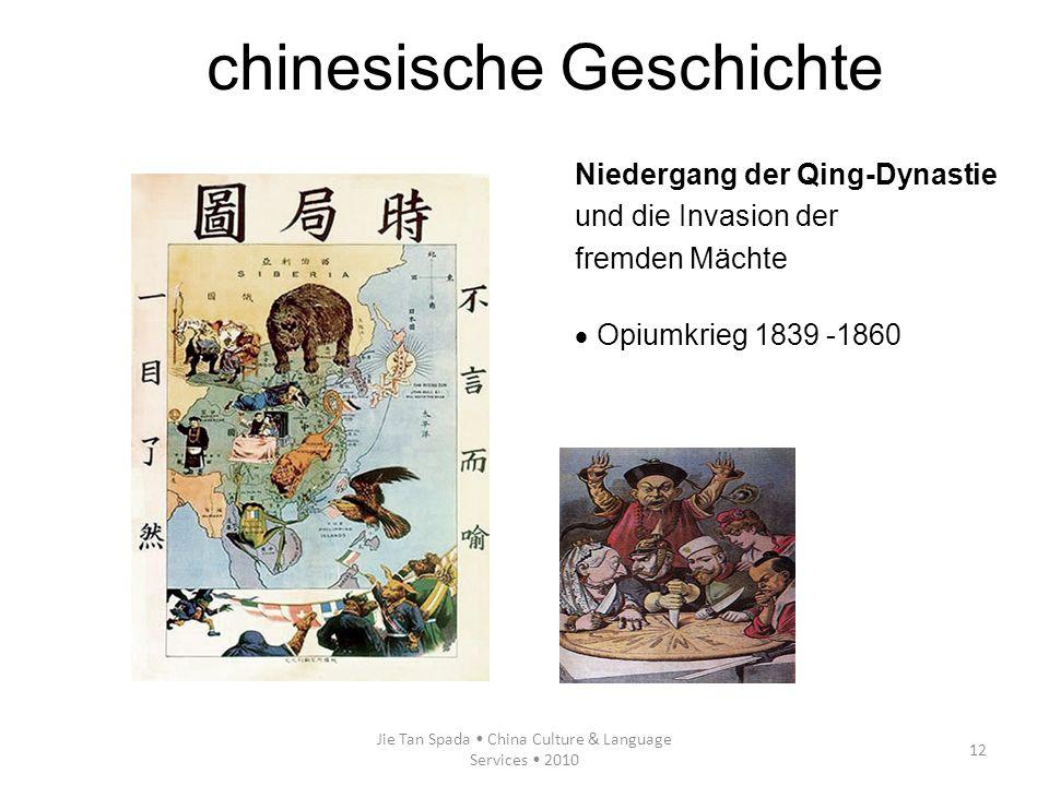 Jie Tan Spada China Culture & Language Services 2010 12 Niedergang der Qing-Dynastie und die Invasion der fremden Mächte Opiumkrieg 1839 -1860 chinesi