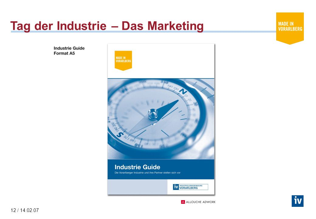 12 / Tag der Industrie – Das Marketing