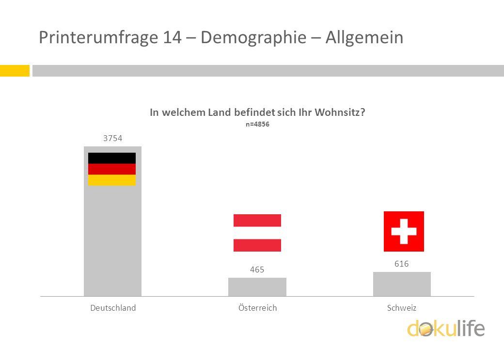 Printerumfrage 14 – Demographie – Allgemein