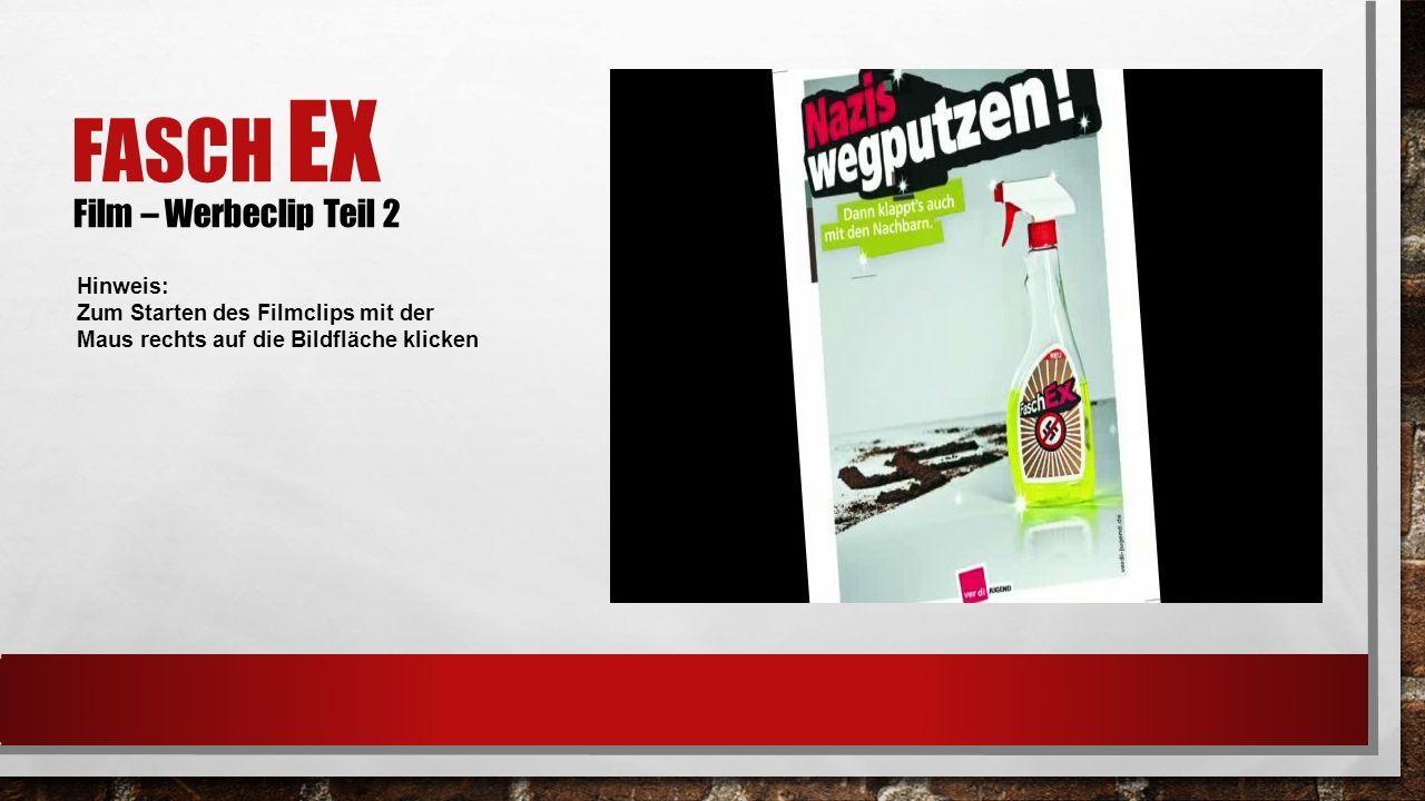 FASCH EX Film – Werbeclip Teil 2 Hinweis: Zum Starten des Filmclips mit der Maus rechts auf die Bildfläche klicken