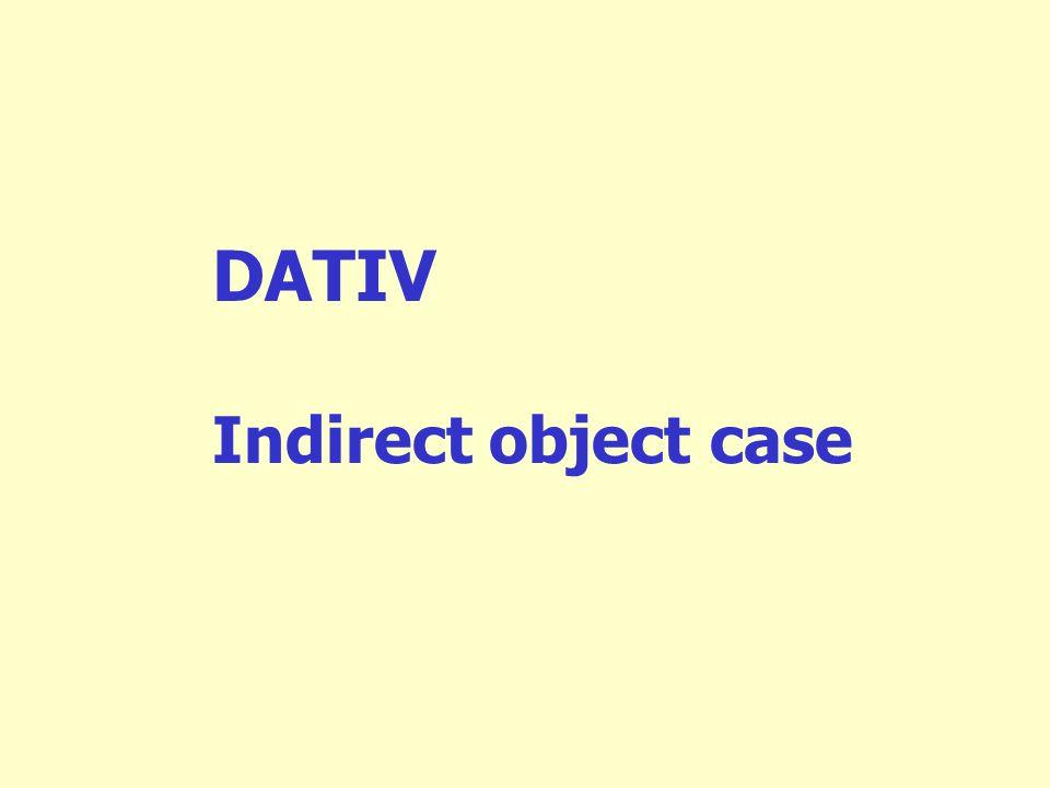 GERMAN 1023 Kapitel Sieben II Cases dative