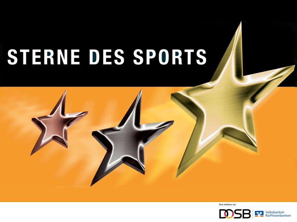 Die Sterne des Sports Die Auszeichnung für Sportvereine der Volksbanken und Raiffeisenbanken in Zusammenarbeit mit dem Deutschen Olympischen Sportbund (DOSB) Belohnt werden das soziale Engagement in gesellschaftlich relevanten Schwerpunktthemen Nächste Ausschreibung ab Frühjahr 2014 bei Ihren Volksbanken Raiffeisenbanken