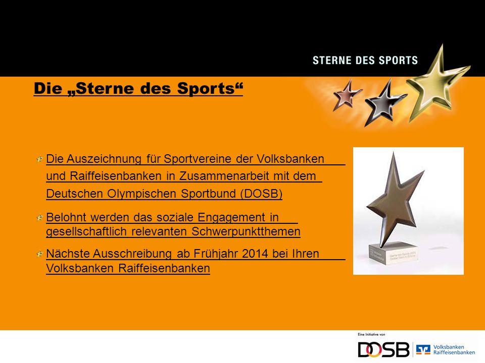 Vielen Dank für Ihre Aufmerksamkeit und viel Erfolg bei den Sternen des Sports!