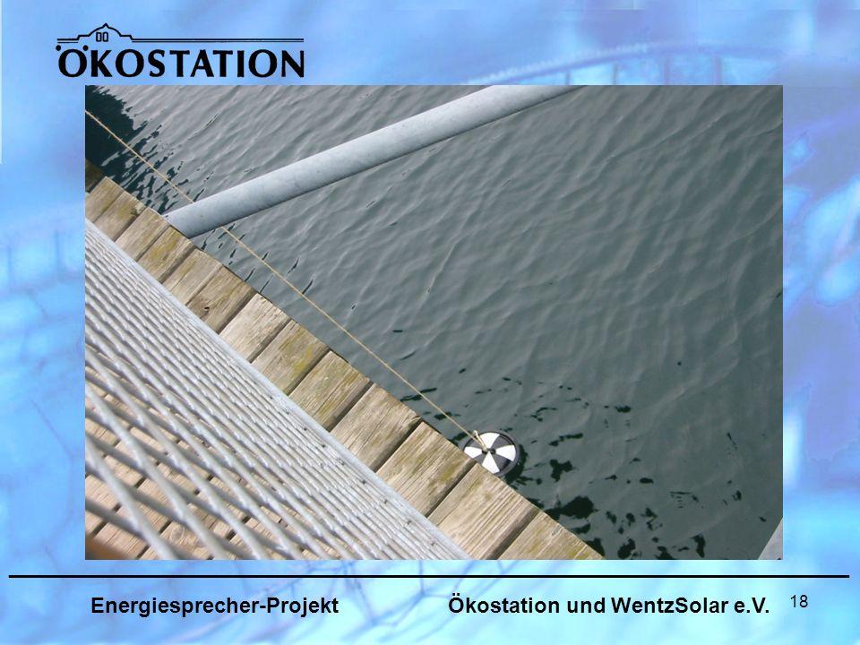 18 _______________________________________________________________ Energiesprecher-Projekt Ökostation und WentzSolar e.V.
