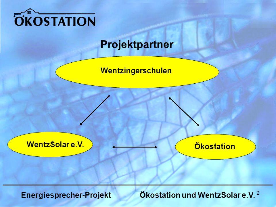 2 _______________________________________________________________ Energiesprecher-Projekt Ökostation und WentzSolar e.V.
