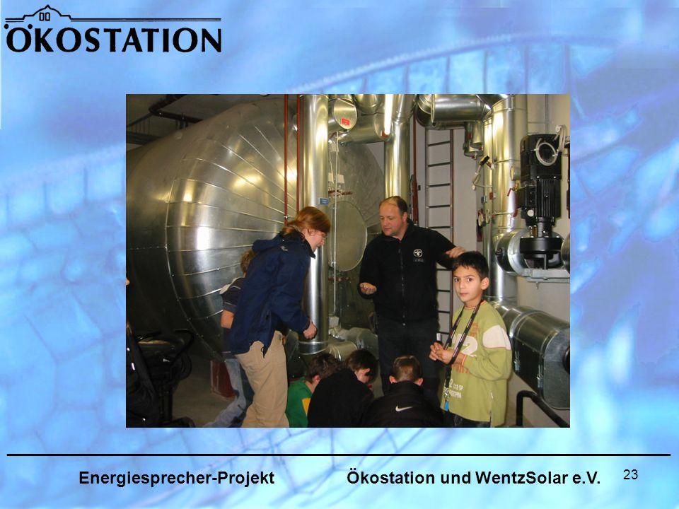 23 _______________________________________________________________ Energiesprecher-Projekt Ökostation und WentzSolar e.V.