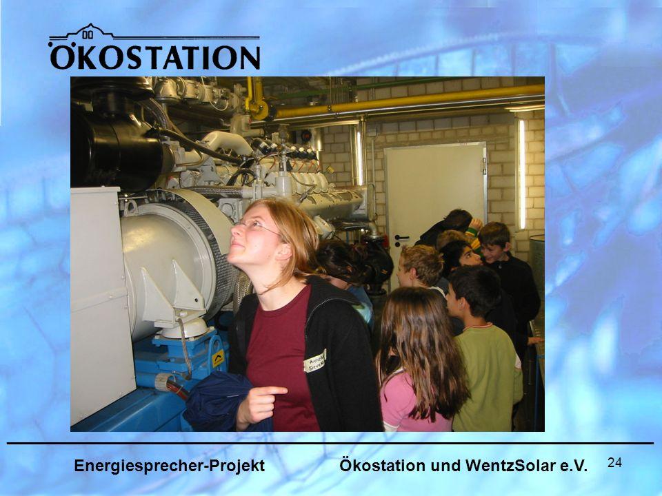 24 _______________________________________________________________ Energiesprecher-Projekt Ökostation und WentzSolar e.V.
