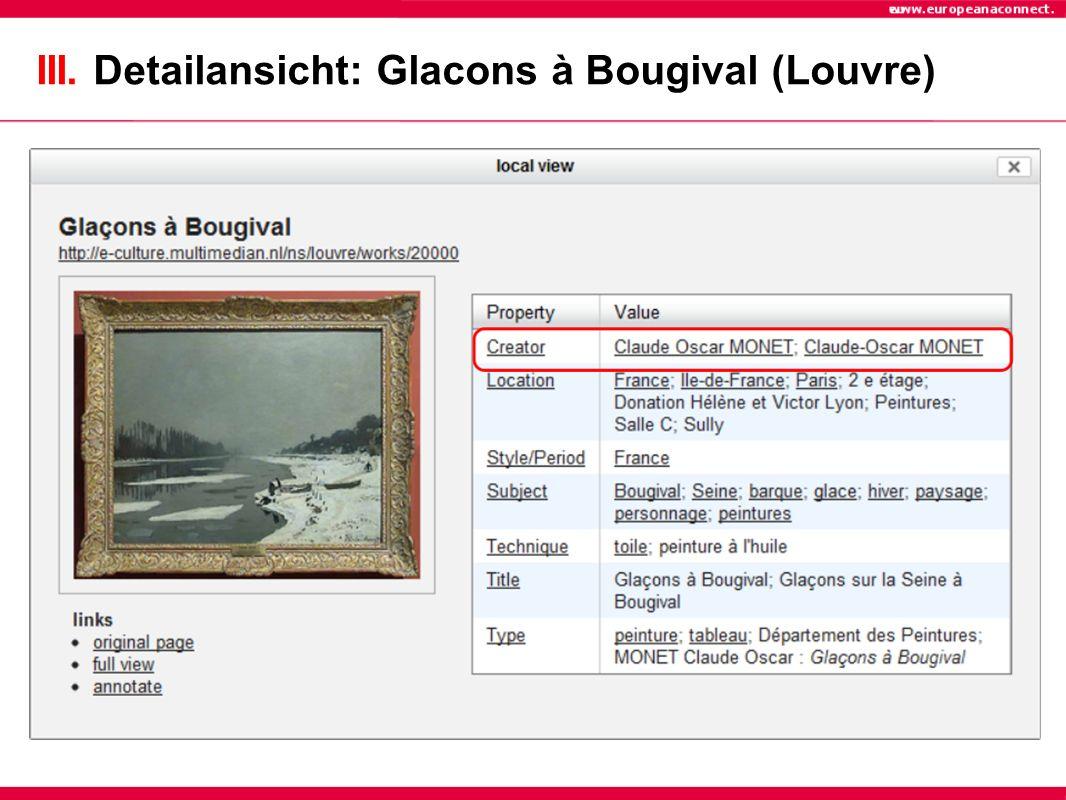 III. Detailansicht: Glacons à Bougival (Louvre)
