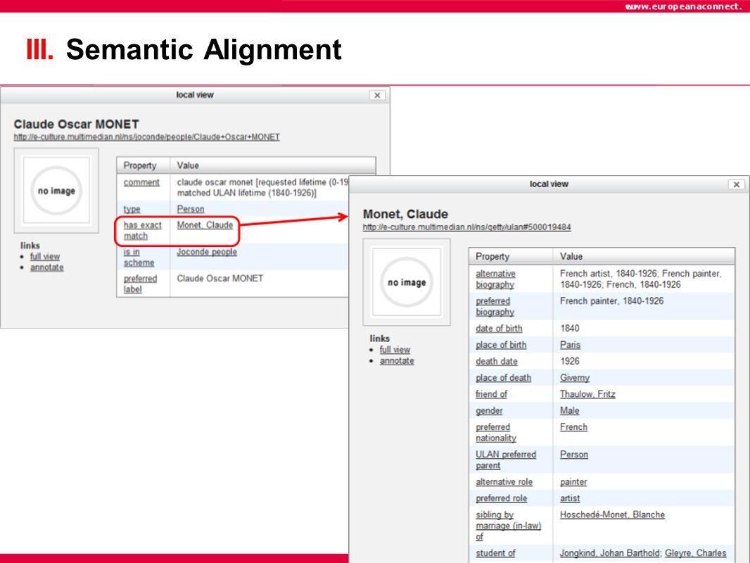III. Semantic Alignment