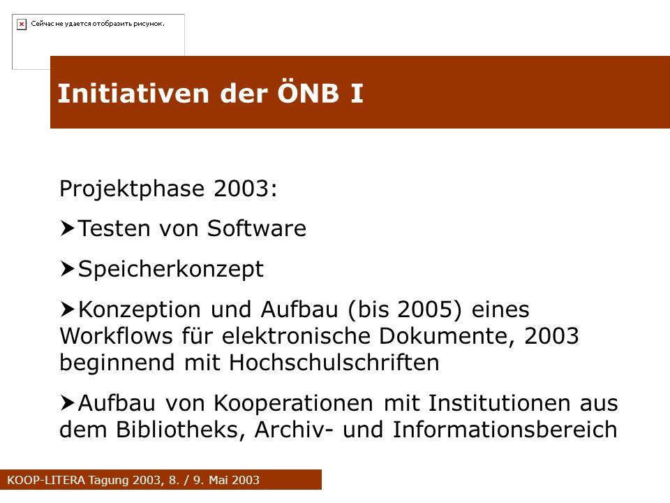 KOOP-LITERA Tagung 2003, 8. / 9.
