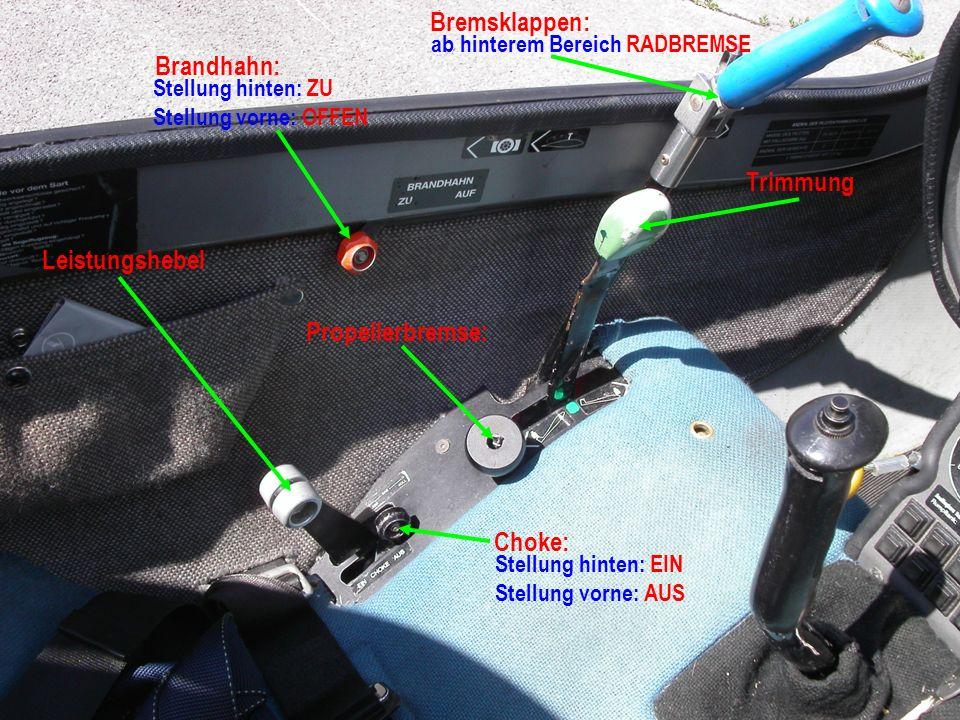 Pedalverstellungskurbel Drehung links: Pedale vor Drehung rechts: Pedale zurück