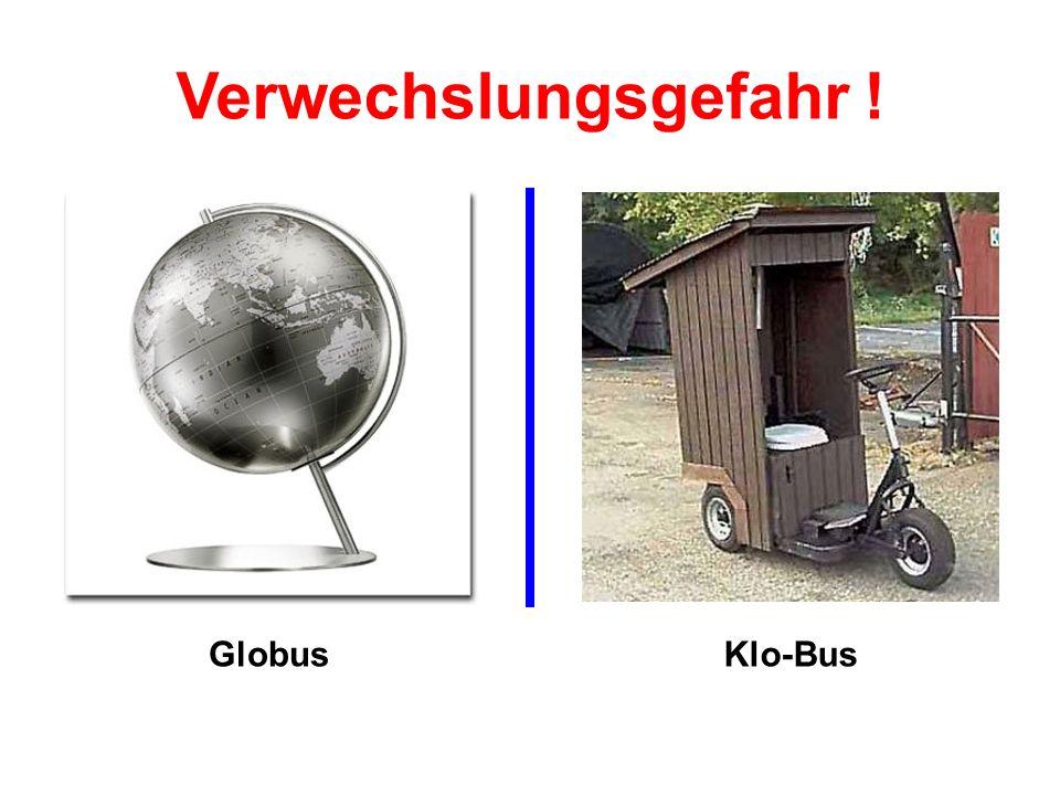 GlobusKlo-Bus Verwechslungsgefahr !