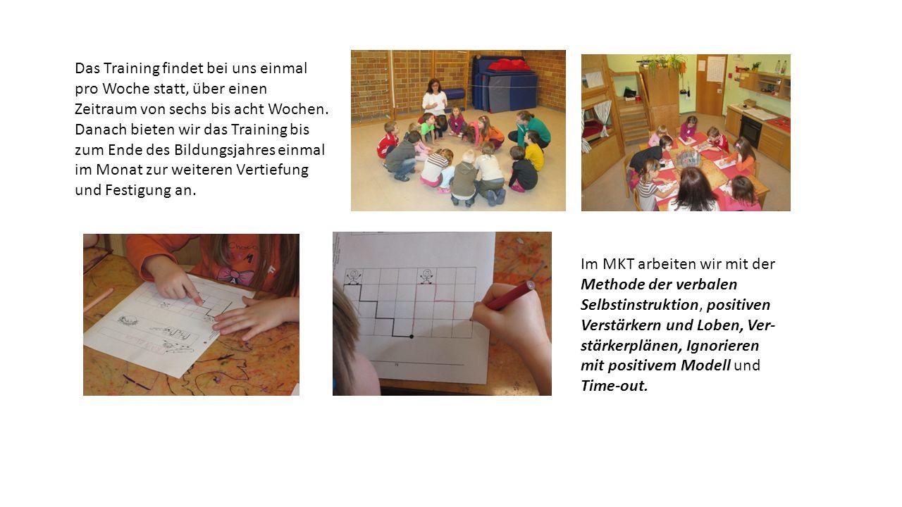 Die Trainingsstunden sind immer gleich aufgebaut, sodass sich die Kinder auf eine gleichbleibende Struktur einstellen können.