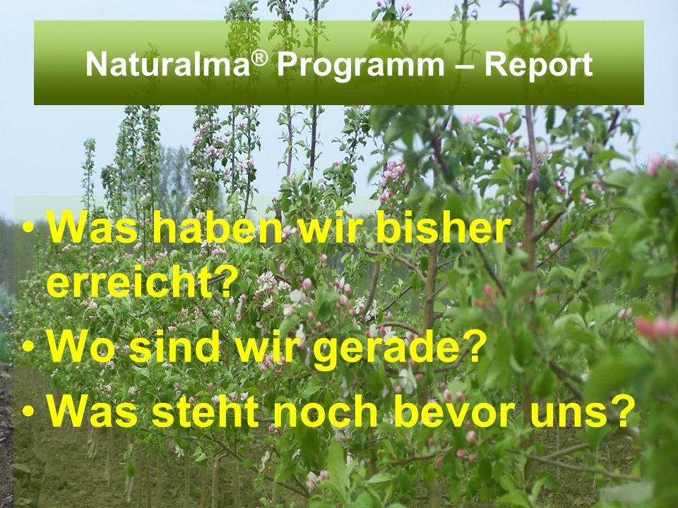 Naturalma ® Programm – Report Was haben wir bisher erreicht? Wo sind wir gerade? Was steht noch bevor uns?