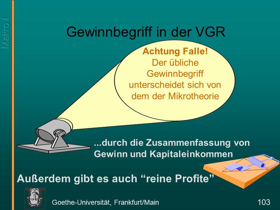 Goethe-Universität, Frankfurt/Main 104 IV.