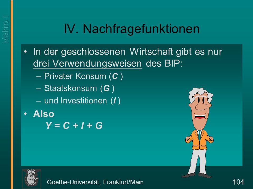 Goethe-Universität, Frankfurt/Main 105 IV a.