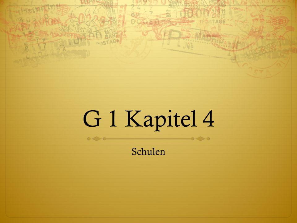 G 1 Kapitel 4 Schulen