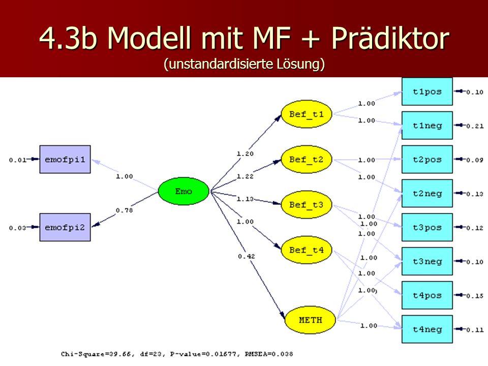 4.3b Modell mit MF + Prädiktor (unstandardisierte Lösung)
