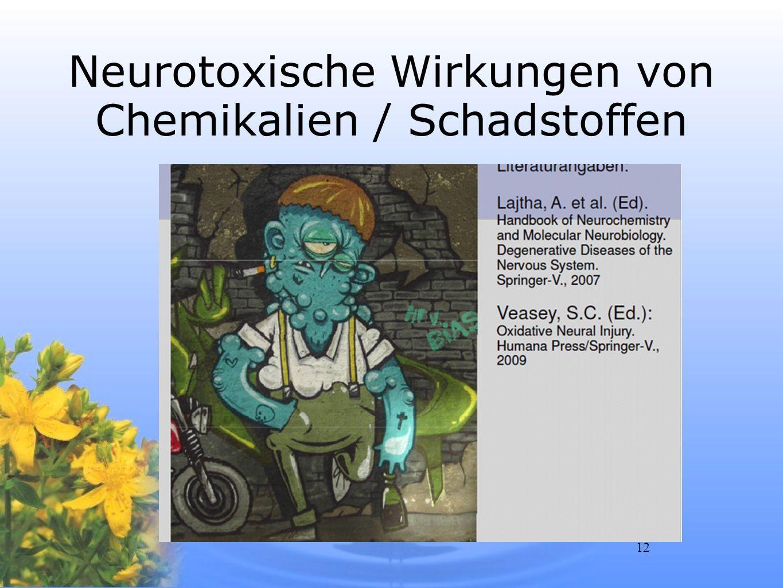 12 Neurotoxische Wirkungen von Chemikalien / Schadstoffen