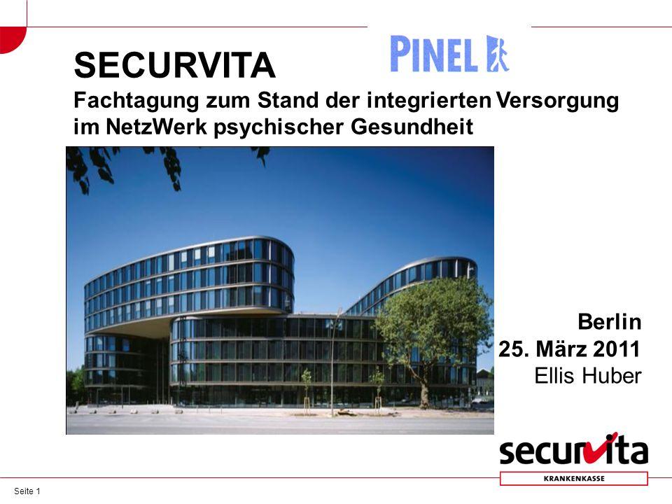 Seite 1 SECURVITA Fachtagung zum Stand der integrierten Versorgung im NetzWerk psychischer Gesundheit Berlin 25.