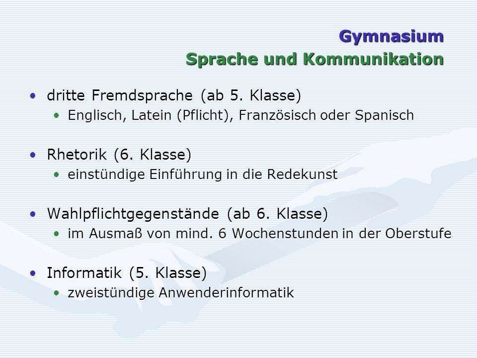 dritte Fremdsprache (ab 5. Klasse)dritte Fremdsprache (ab 5.