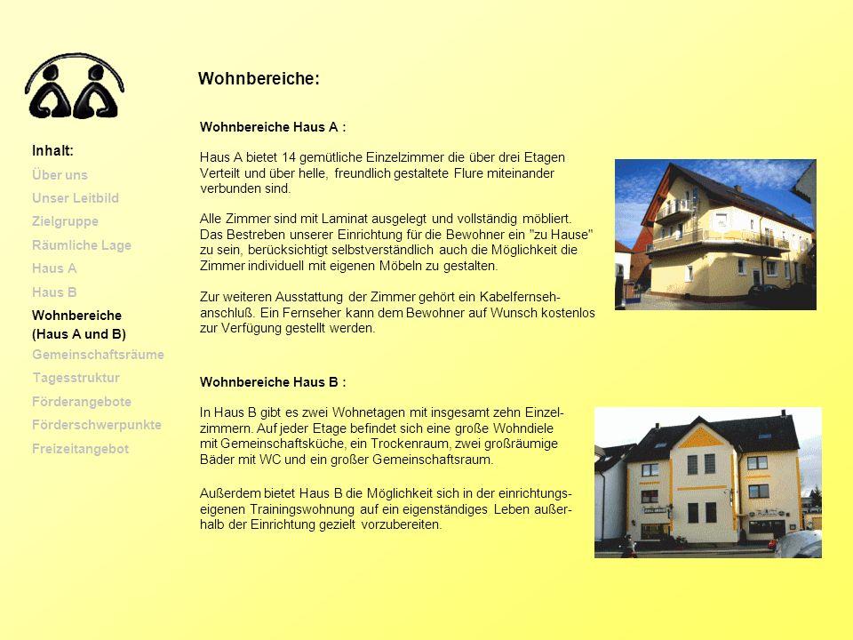 In Haus B gibt es zwei Wohnetagen mit insgesamt zehn Einzel- zimmern. Auf jeder Etage befindet sich eine große Wohndiele mit Gemeinschaftsküche, ein T