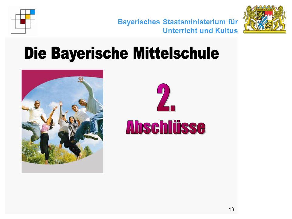 Bayerisches Staatsministerium für Unterricht und Kultus 13