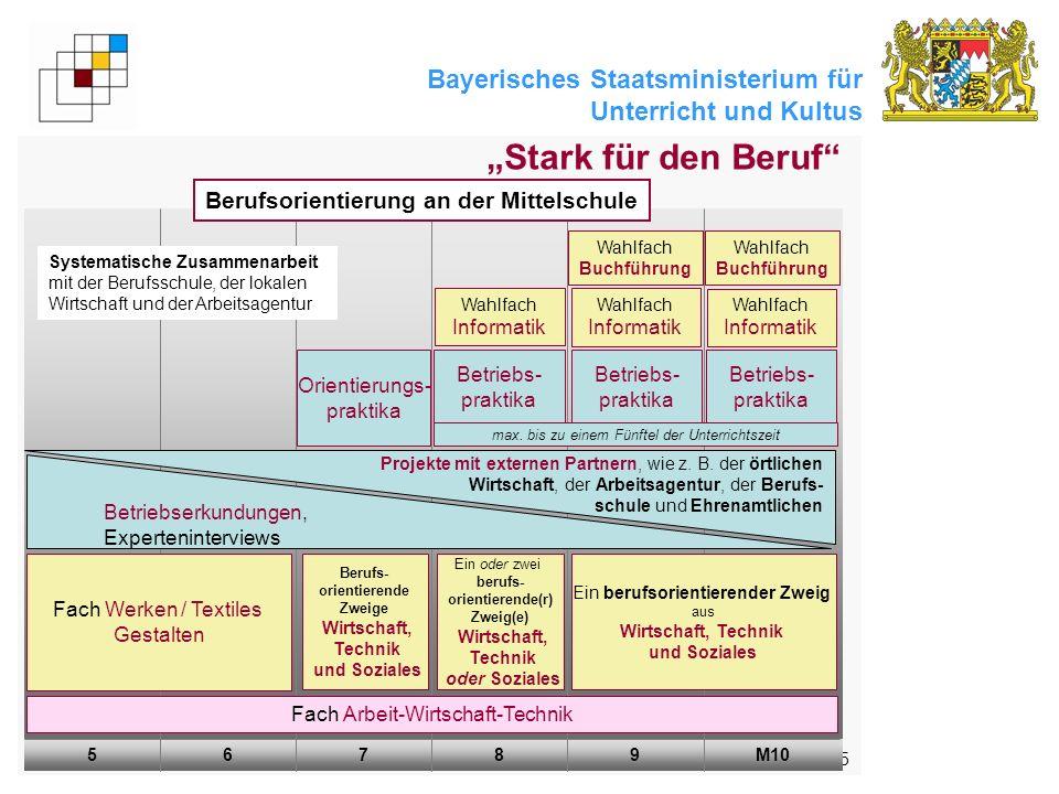 Bayerisches Staatsministerium für Unterricht und Kultus 5 Stark für den Beruf M1098765 Fach Arbeit-Wirtschaft-Technik Betriebserkundungen, Expertenint
