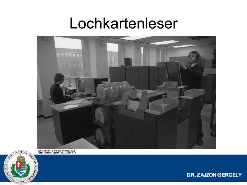 Lochkartenleser DR. Z AJZON G ERGELY