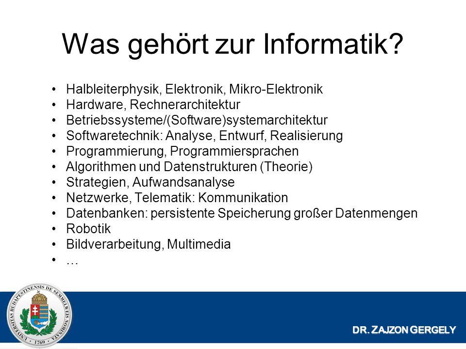 Was gehört zur Informatik.