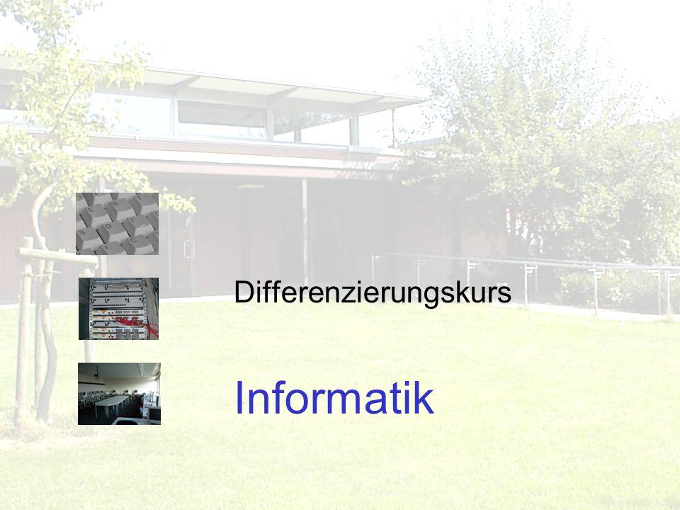 Informatik Differenzierungskurs