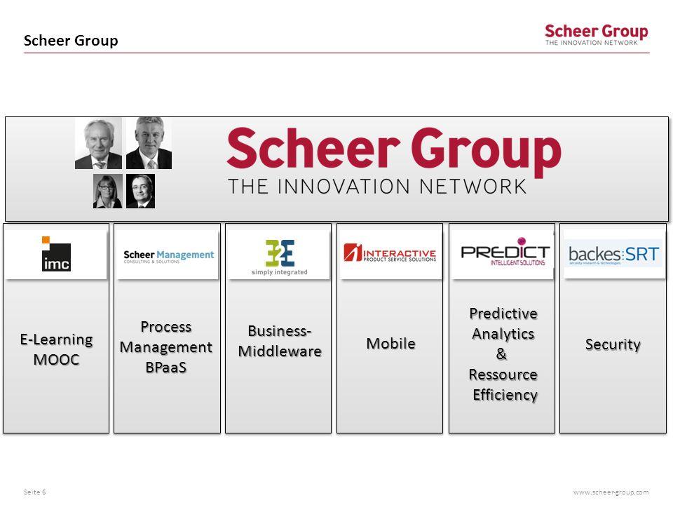 www.scheer-group.com Universität + Scheer Tower Seite 7 7